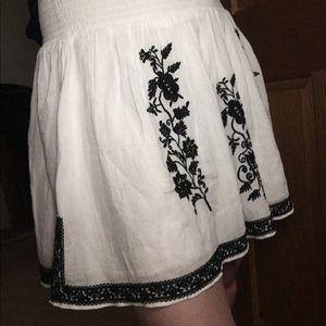 J Crew flare mini skirt with embroidery